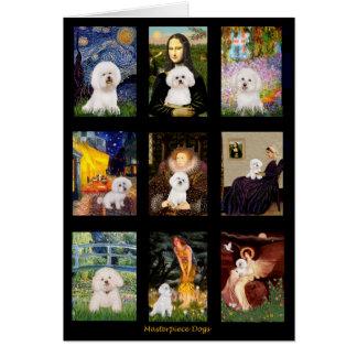 Famous Art Bichon Frise Composite Card