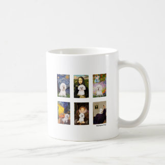 Famous Art Bichon Frise Composite (clear) Basic White Mug
