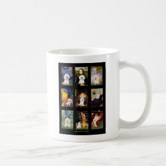 Famous Art Bichon Frise Composite Classic White Coffee Mug