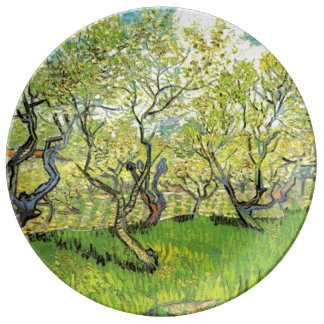 Famous art, Orchard in Blossom by Vincent van Gogh Plate