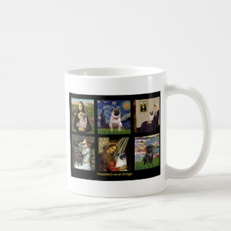 Famous Art Pug Composite #1 Mugs