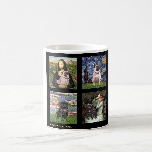 Famous Art Pug Composite #1 Mug
