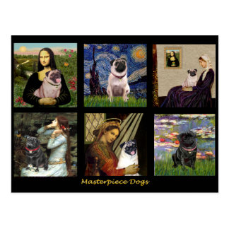 Famous Art Pug Composite #1 Postcard
