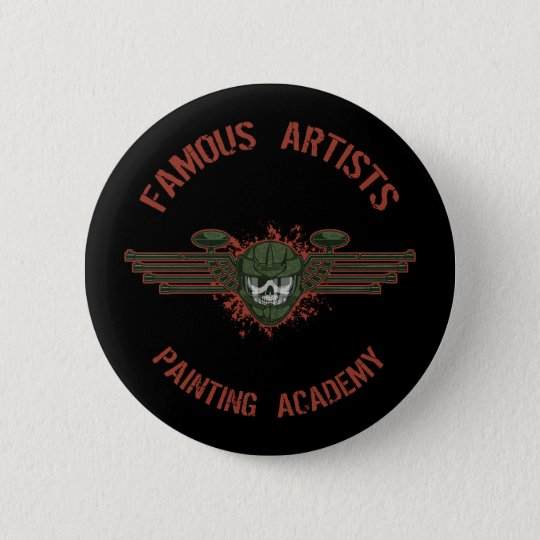 Famous Artists Paintball 6 Cm Round Badge