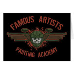 Famous Artists Paintball Greeting Card