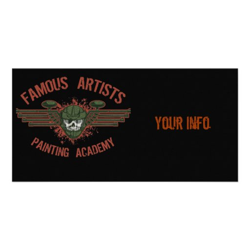 Famous Artists Paintball Personalized Photo Card