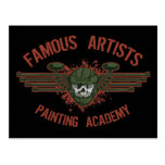 Famous Artists Paintball Postcards