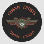 Famous Artists Paintball Round Stickers