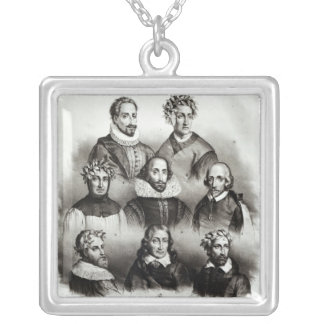 Famous Authors, 1833 Silver Plated Necklace