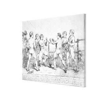 Famous Battle Between R.Humphreys and D. Canvas Print