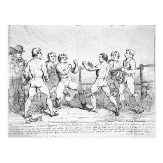 Famous Battle Between R.Humphreys and D. Postcard