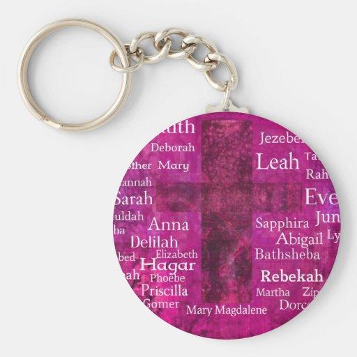 Famous Biblical Women list Keychains
