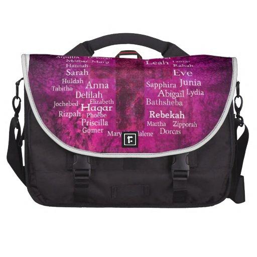 Famous Biblical Women list Laptop Bag