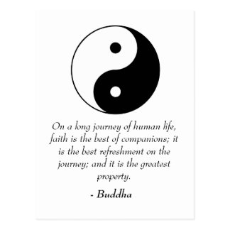 Famous Buddha Quotes - Power of Faith Postcard