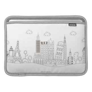Famous Buildings Sleeve For MacBook Air