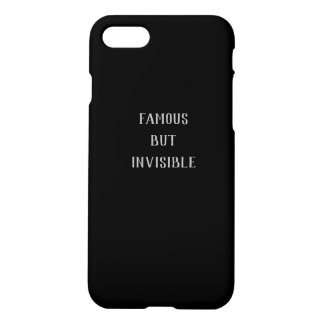 Famous But Invisible Iphone X Case
