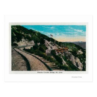 Famous Circular Bridge, Mt. LoweMt. Lowe, CA Postcard
