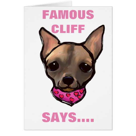 FAMOUS CLIFF MOTHER'S DAY CARD