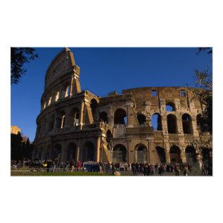 Famous Colosseum in Rome Italy Landmark Art Photo