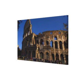 Famous Colosseum in Rome Italy Landmark Canvas Print