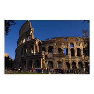 Famous Colosseum in Rome Italy Landmark Photo Print
