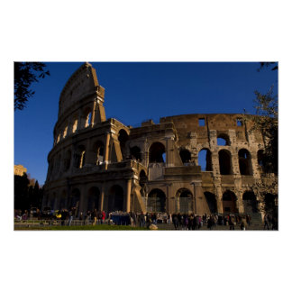 Famous Colosseum in Rome Italy Landmark Poster