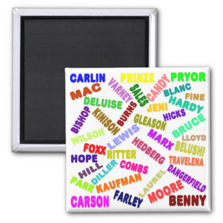 Famous Comedian Collage Square Magnet