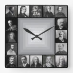 Famous Composers Black and White Portraits