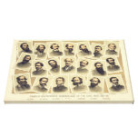 Famous Confederate Commanders of the Civil War Stretched Canvas Prints