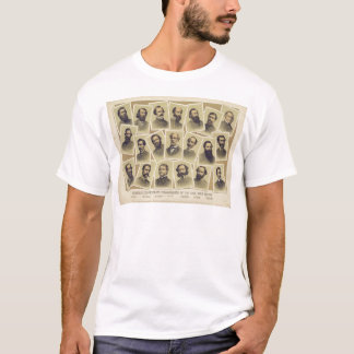 Famous Confederate Commanders of the Civil War T-Shirt