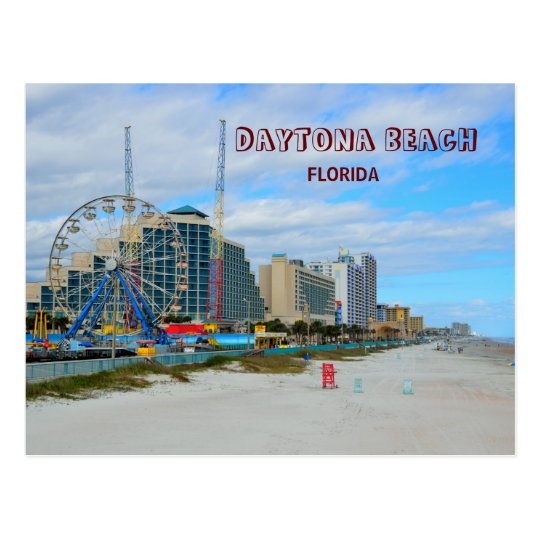 Famous Daytona Beach Florida Postcard
