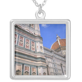 Famous Doumo Church close-up in Florence, Italy Silver Plated Necklace
