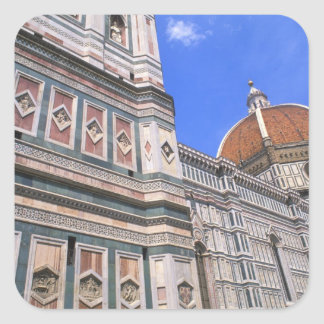Famous Doumo Church close-up in Florence, Italy Square Sticker