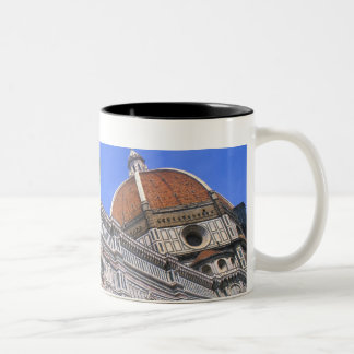 Famous Doumo Church close-up in Florence, Italy Two-Tone Coffee Mug