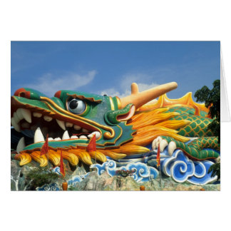 Famous Dragon at Haw Par Villa in Singapore Asia Greeting Card