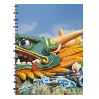 Famous Dragon at Haw Par Villa in Singapore Asia Spiral Note Book