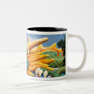 Famous Dragon at Haw Par Villa in Singapore Asia Two-Tone Coffee Mug