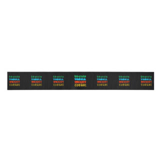 Famous Drinks Grosgrain Ribbon