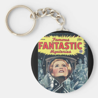 Famous Fantastic Mysteries 45-09 v06n06_Pulp Art Basic Round Button Key Ring