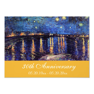 Famous fine art anniversary invitations. 11 cm x 16 cm invitation card
