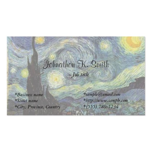 Create your own fine artist business cards for Painting artist business cards