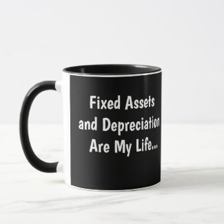 Famous Fixed Asset Accountant Quote Joke Mug