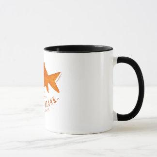 Famous Frank's famous logo on a mug