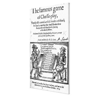 Famous Game of Chess, 1614 Canvas Print