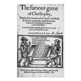 Famous Game of Chess, 1614 Poster