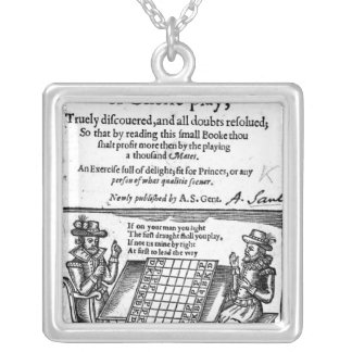 Famous Game of Chess, 1614 Silver Plated Necklace