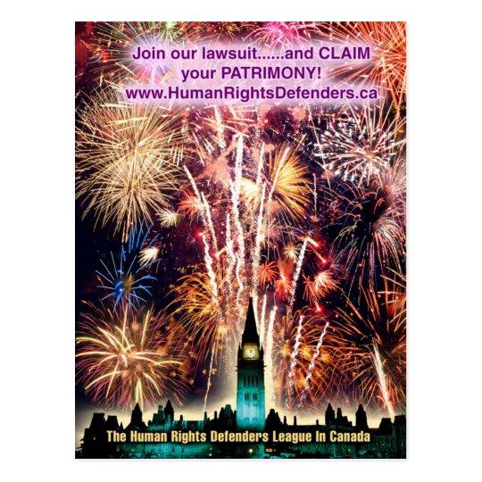 Famous Human Rights Defenders League Postcard #1