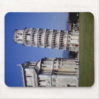 Famous inclined bell tower, the Leaning Tower of P Mousepads