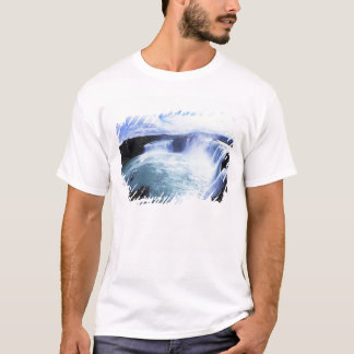 Famous Jodafoss Falls in North Central Iceland T-Shirt