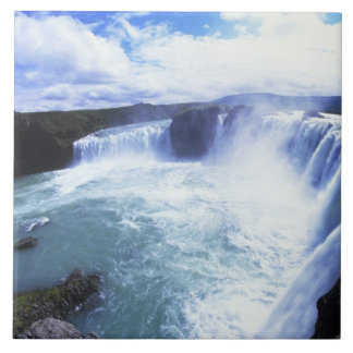 Famous Jodafoss Falls in North Central Iceland Tile